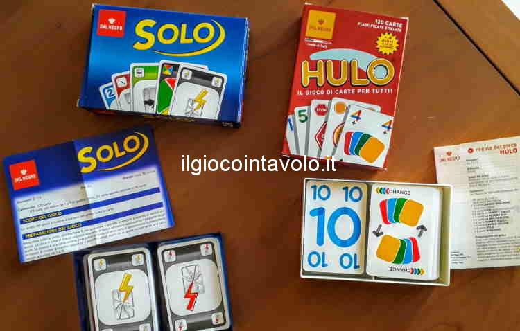 I giochi di carte Hulo e Solo! 1